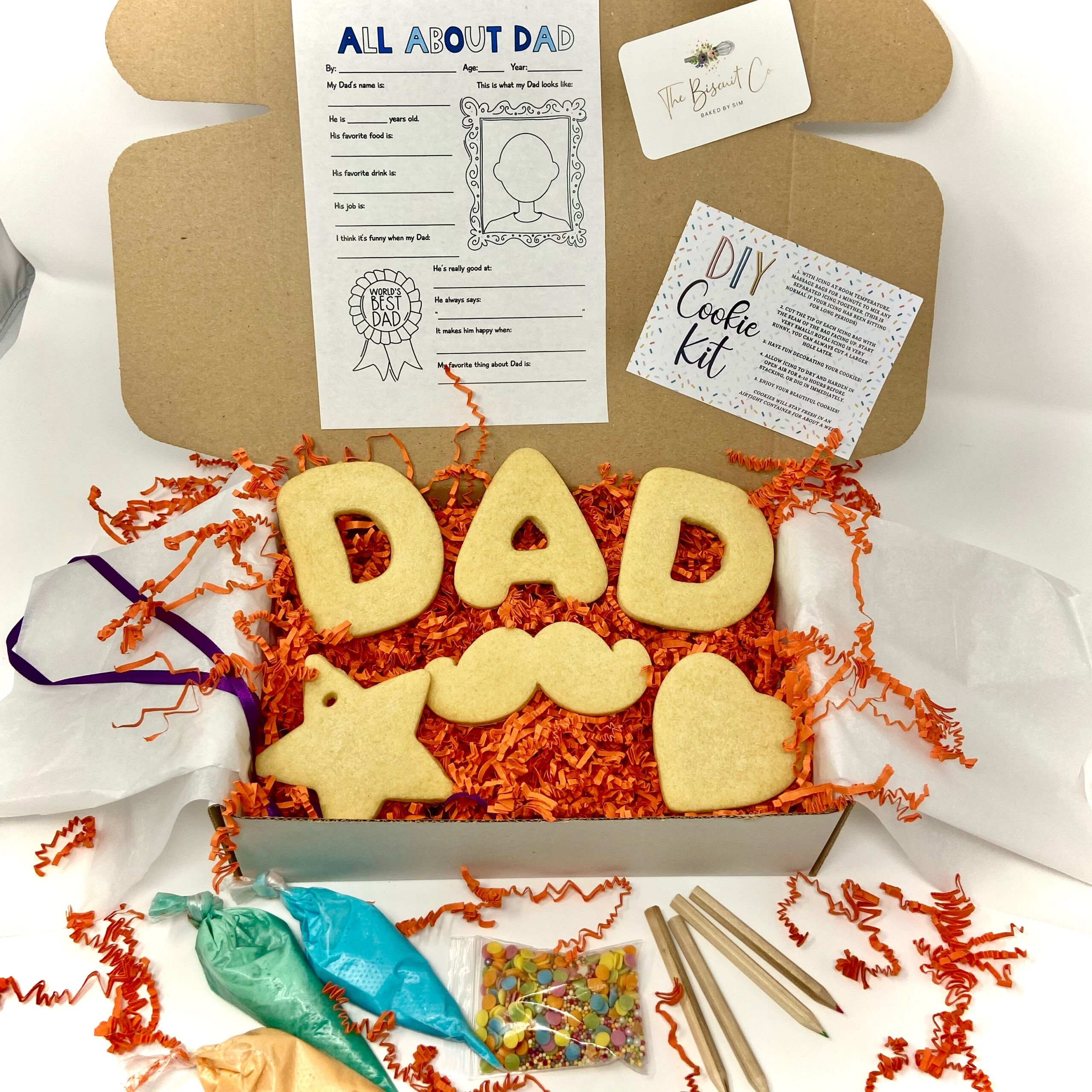 Gift set with biscuits for Father's Day